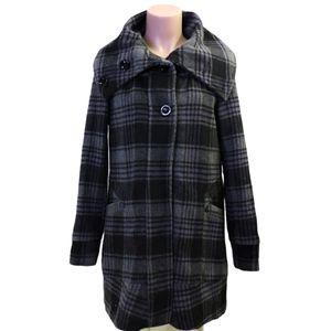 Vero Moda wool check pea coat size small